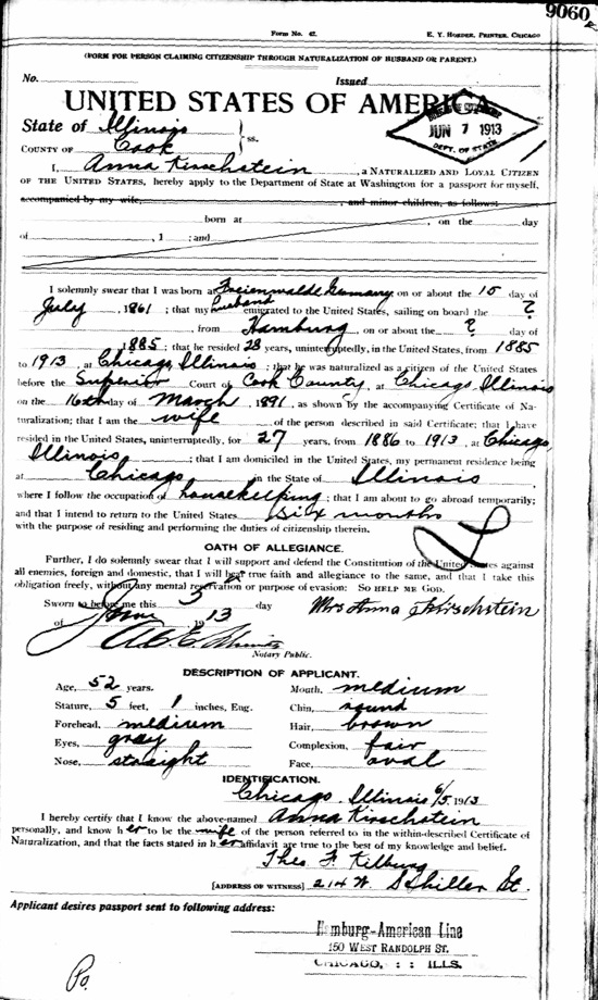 Birth and Baptism of Anna Schumann