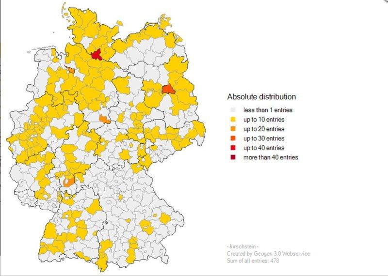 Geogen German Surname Mapping