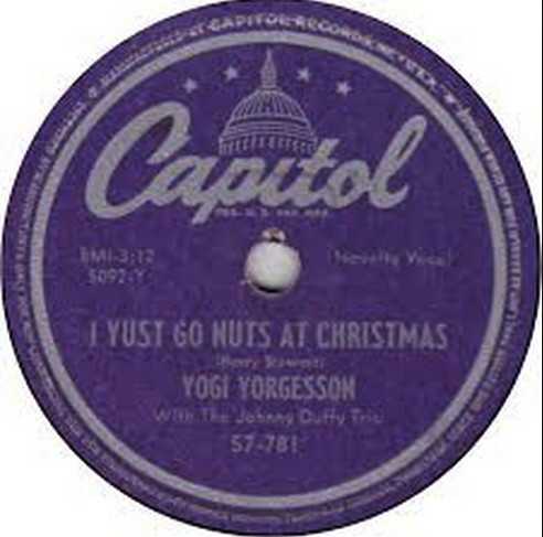 "Blog Caroling with footnoteMaven: ""I Yust Go Nuts at Christmas"" by Yogi Yorgesson"