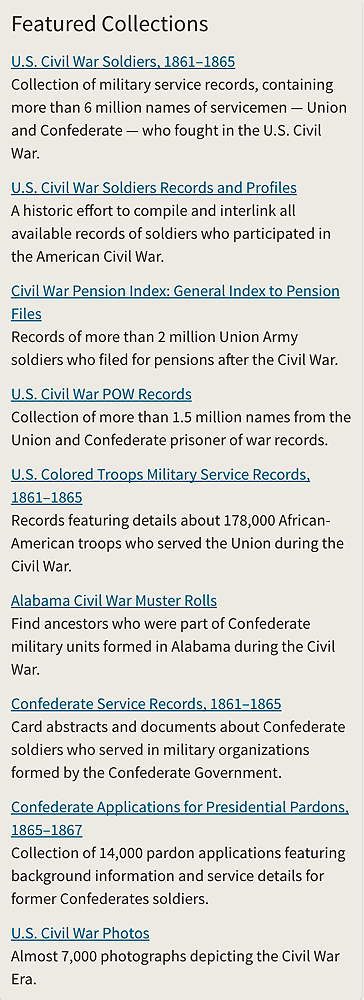NARA and Ancestry.com unveil new Civil War digital records today