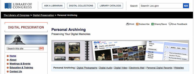 Family History Digital Preservation