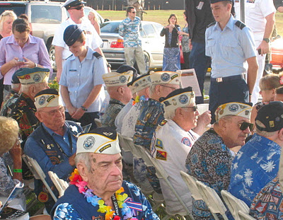 Survivors gather at the Utah ceremony, 2011