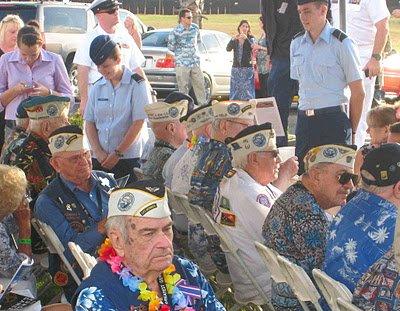 Survivors gather at the Utah ceremony, 2011
