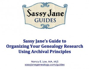 organizing genealogy research sassy jane genealogy Organizing the Sassy Jane Way