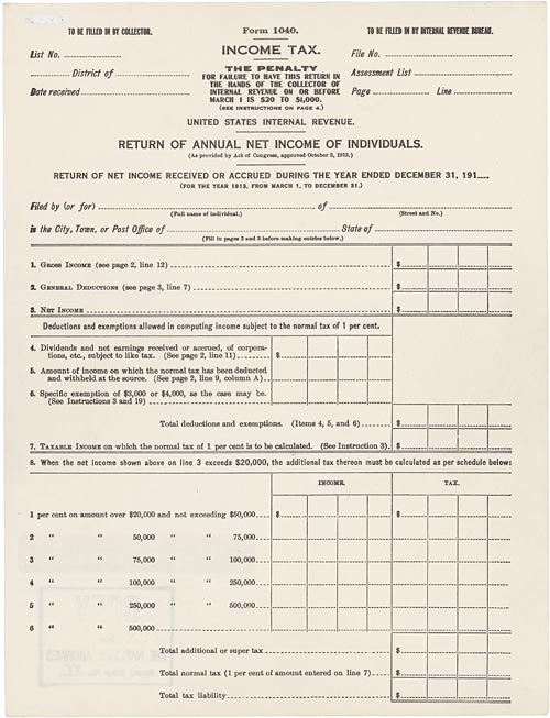 Income Tax and Genealogy
