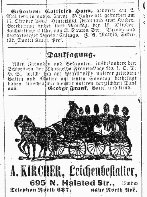 Obituaries from Chicago German-Language Newspapers