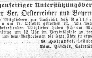 Chicago German-Language Newspaper Obituaries