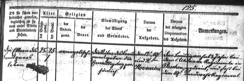 German Parish Record Translation of the Marriage of Carl Bauch and Anna Braun