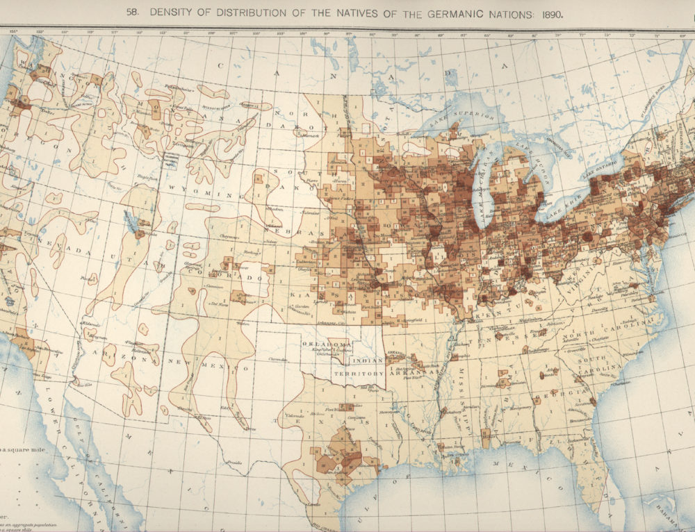 Mapping 1890 German Ancestry