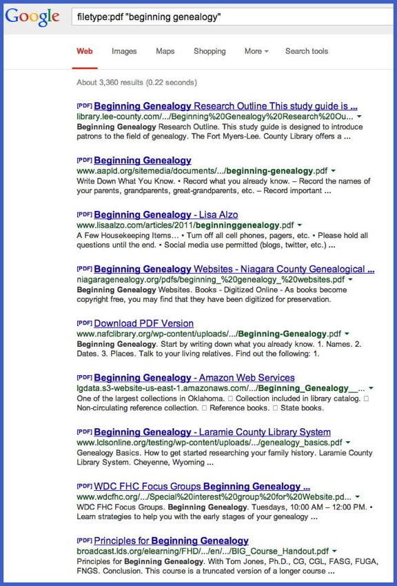 google search trick sassy jane genealogy