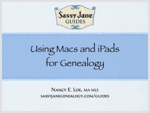 Using Macs and iPads for Genealogy Sassy Jane Genealogy