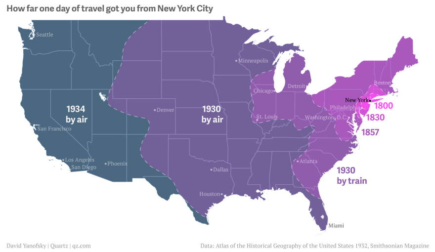 How Far Your Ancestors Could Travel from New York sassy jane genealogy