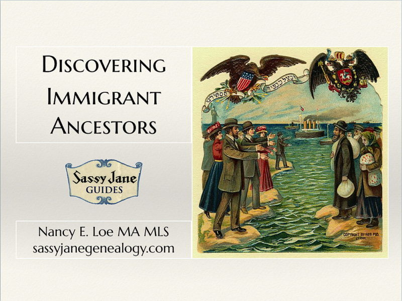 Discovering Immigrant Ancestors