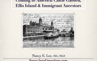 immigrant ancestors talk sassy jane genealogy