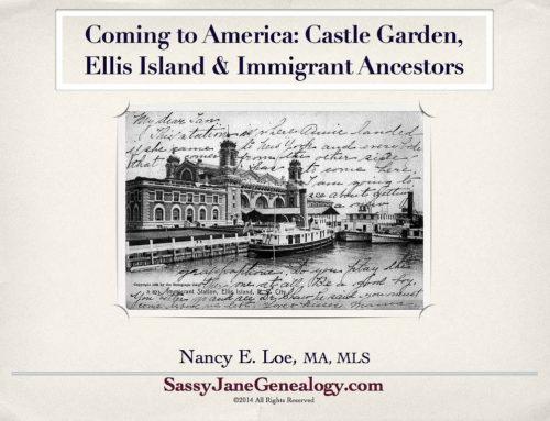 Immigrant Ancestors Talk at SLOCGS