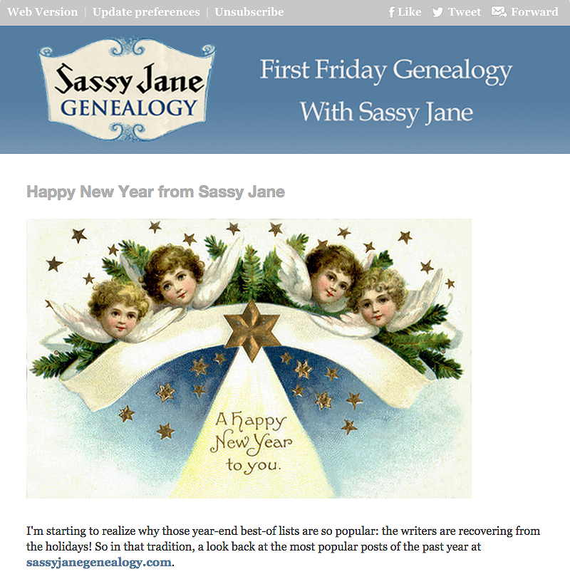 First Friday Genealogy