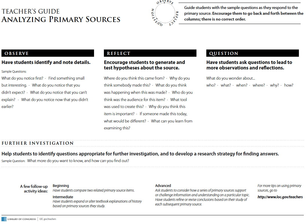 primary resources analysis tool sassy jane genealogy