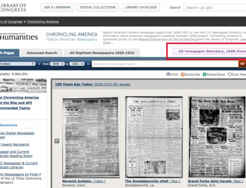 Search U.S. Newspaper Directory