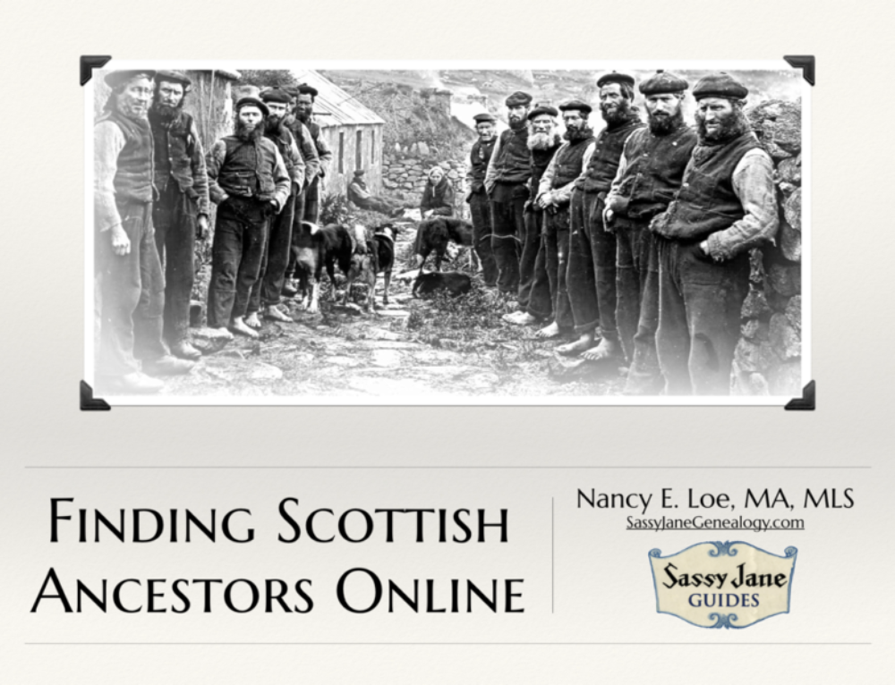 Finding Scottish Ancestors Webinar