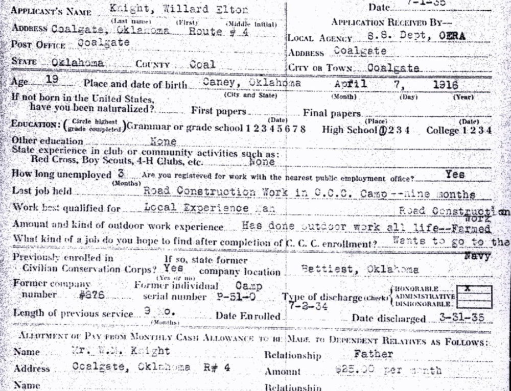 Researching Your Civilian Conservation Corps Relative