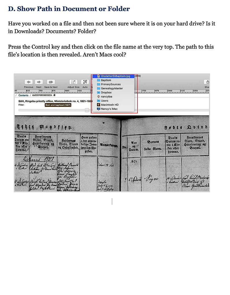 Show Path Document