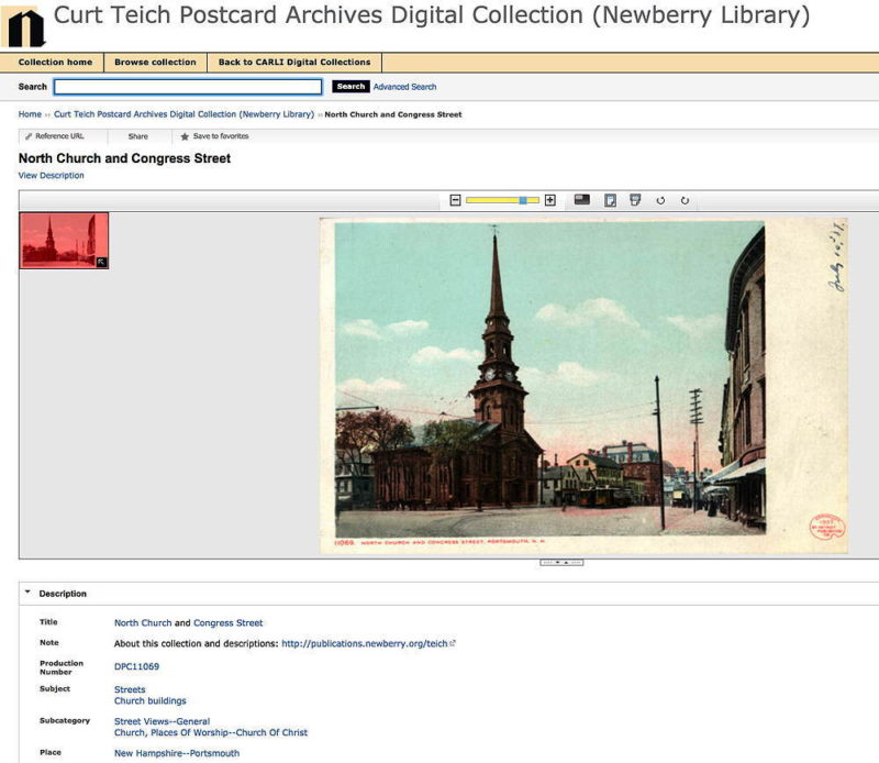 Using the Curt Teich Postcard Archives