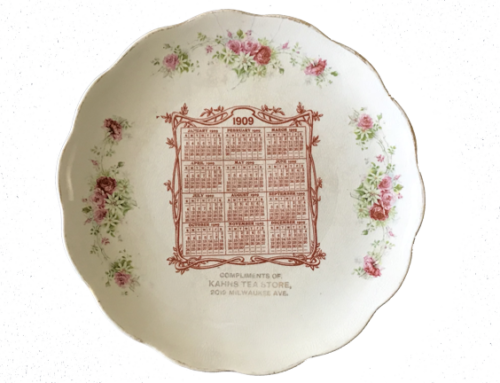 Kahns Tea Store 1909 Calendar Plate
