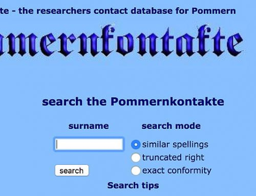 Pommernkontakte Genealogy Database