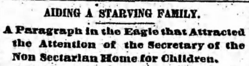 newspaper serendipity in 1884 Brooklyn