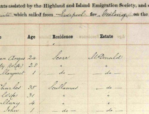 Scotland to Australia in the 1850s