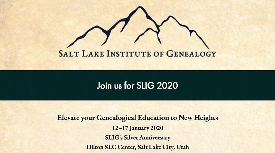 Going to SLIG 2020 Logo