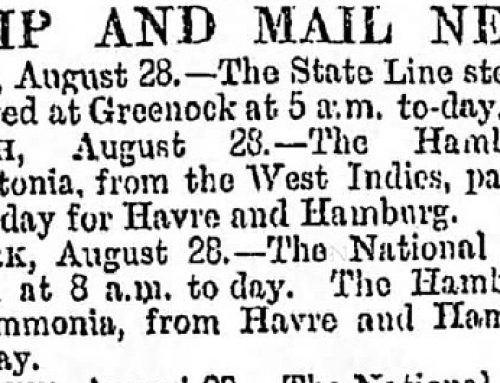 Newspaper Shipping News for Genealogy