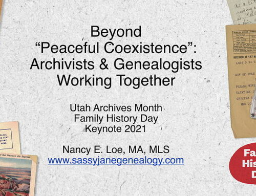 Archivists and Genealogists Working Together